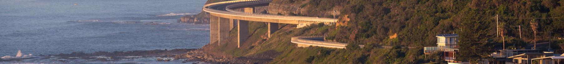 Scenic view of Seacliff Bridge Illawarra