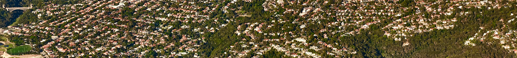 Aerial photograph of Sydney suburbs