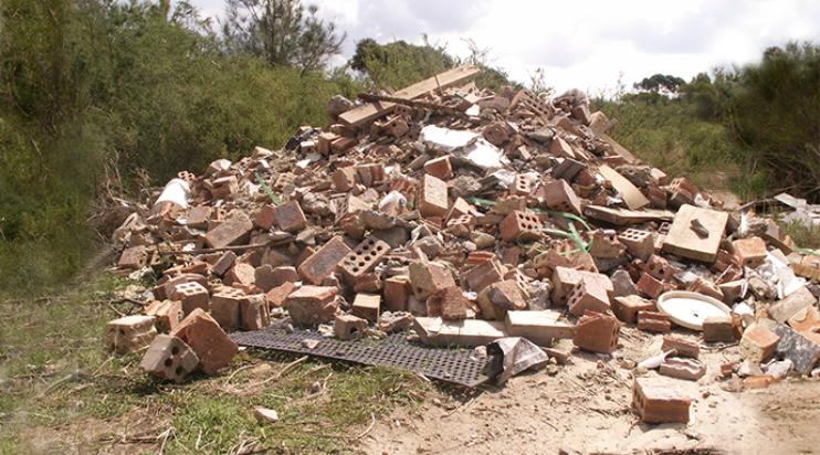 bricks and other construction waste