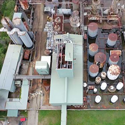 aerial view of the Truegain site