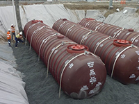 underground fuel tanks being installed