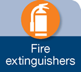 Icon for fire extinguishers