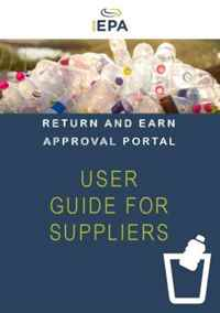 Cover of Return and earn approval portal. User Guide for Suppliers