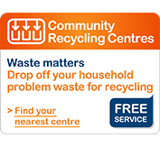 Community recycling centre tile