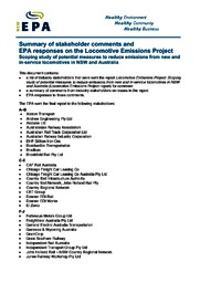 Reducing emissions from locomotives