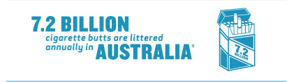 7.2 billion cigarette butts are littered annually in Australia